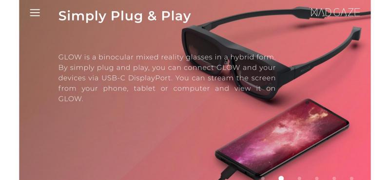 MAD Gaze Glow MRAR AR智能眼鏡