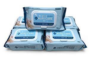 韓國 NURI CARE 99.9%抗菌消毒濕紙巾(20片裝 / 70片裝)