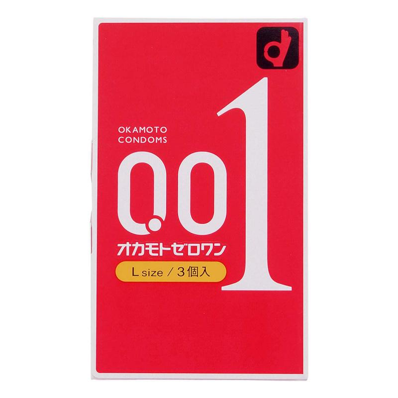 岡本 0.01 L size 超薄安全套 3片裝 (日版)