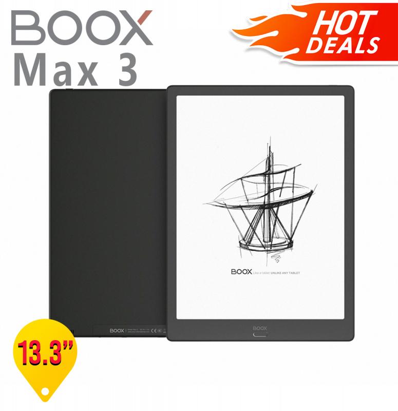 """【新品旗艦】BOOX Max3 13.3"""" 黑色 電子閱讀器【Price專屬優惠】:原裝價值$398,保護套+AG防眩光磨砂保護貼"""