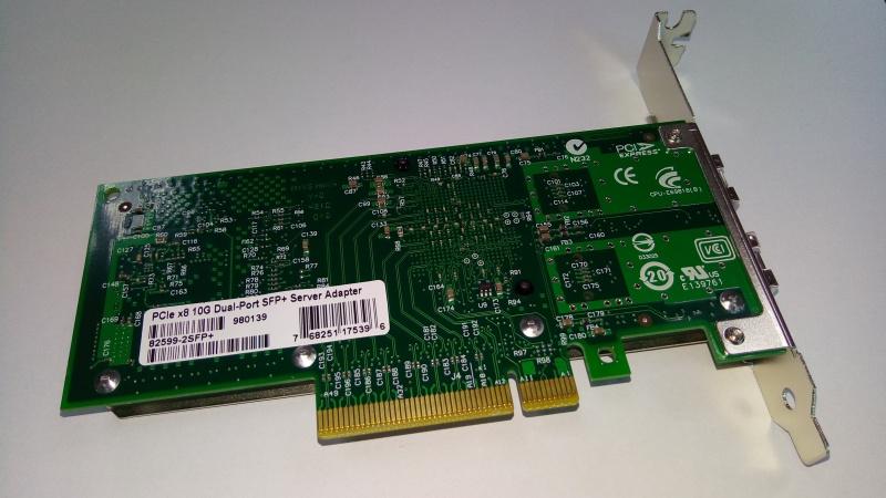 Intel Based PCIe Network Adapter - Intel JL82599EN Chipset; SFP+; 10Gb Transfer Rate x 1; PCIe 2.0 x8 (1 port) LREC9801BF-SFP+