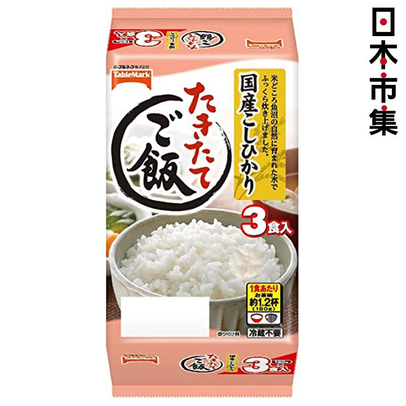 日本 Table Mark 新潟米叮叮即食飯【二段階加熱製法】180g (1包3盒) 【市集世界 - 日本市集】