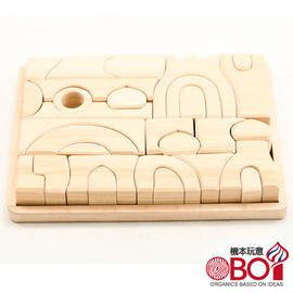 俄羅斯積木 -- 淳木童話 -- 建築遊戲系列: 無上色圓頂積木組