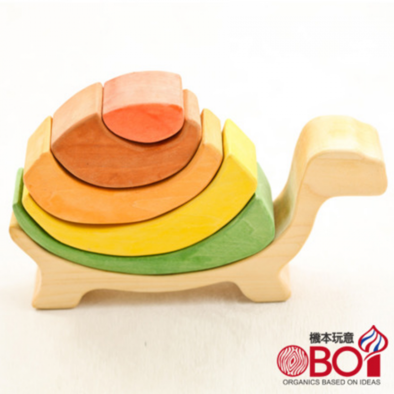 俄羅斯積木 -- 淳木童話 -- 金字塔系列: 烏龜瑪莉 --- 層層疊疊是孩子的最愛!
