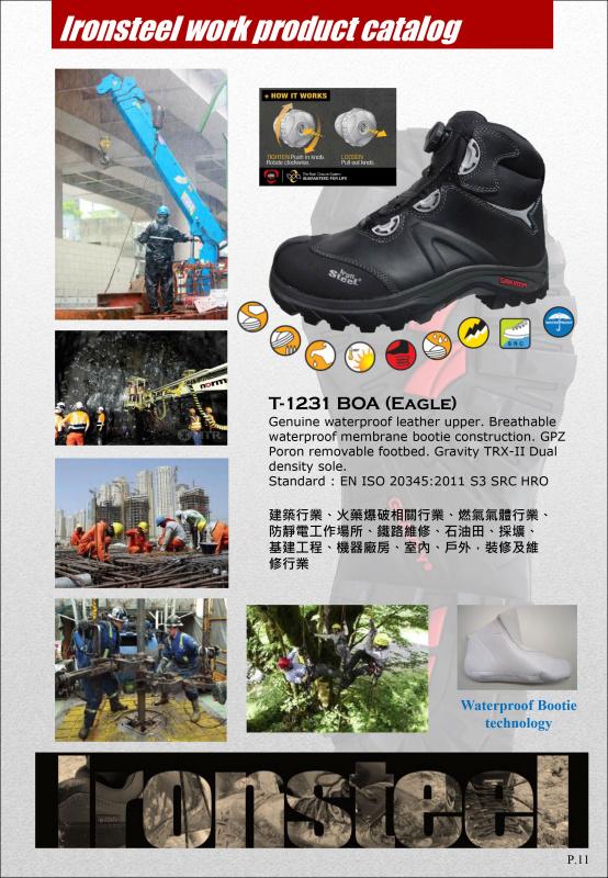 防水高筒 扭扭扭永久免費保修 T-1231 BOA (Eagle) 不用綁鞋帶 熊貓豬 有免費泊車 IRON STEEL Wh App 65227066
