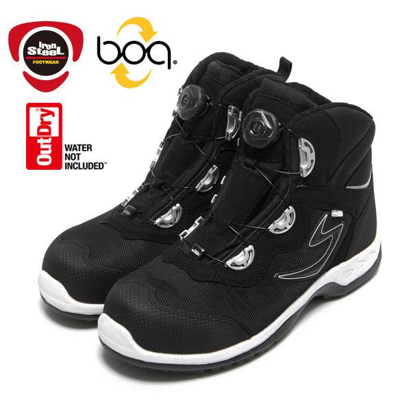 IronSteel T-1297 BOA HAWK Outdry防水boa快旋鈕安全鞋 工作鞋 鋼頭鞋 防穿刺 防滑 絕緣 熊貓豬 有免費泊車