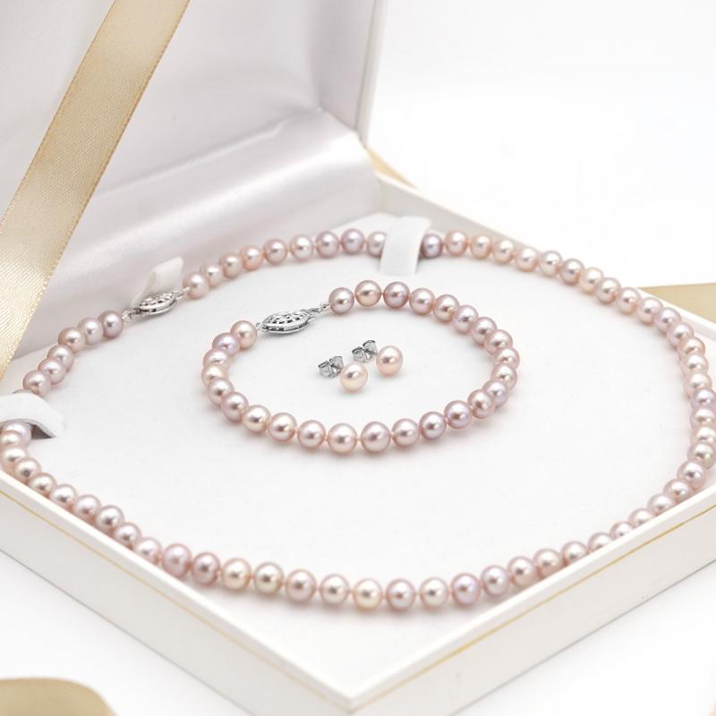 One & Ownly - 粉紅色淡水珍珠純銀禮物套裝