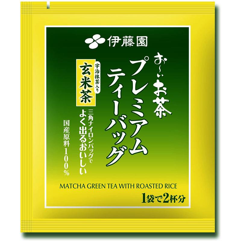 日版伊藤園 【玄米茶添加】宇治抹茶三角茶包 1盒50包【市集世界 - 日本市集】