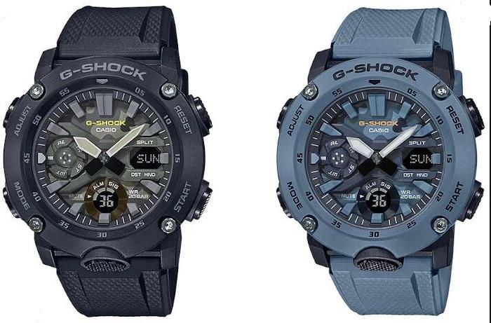Casio G-Shock 碳纖維核心迷彩系列 [GA-2000SU]