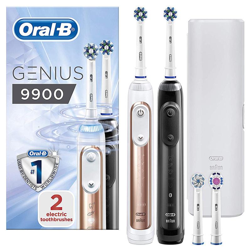 Oral-B - Genius 9900 CrossAction電動牙刷(黑+金兩支裝)(平行進口)