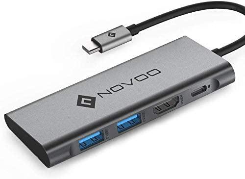 Novoo 行貨 4-in-1 USB C Type C Hub USB 3.0 *2 HDMI 4K Type-C PD 擴展器 4PLX