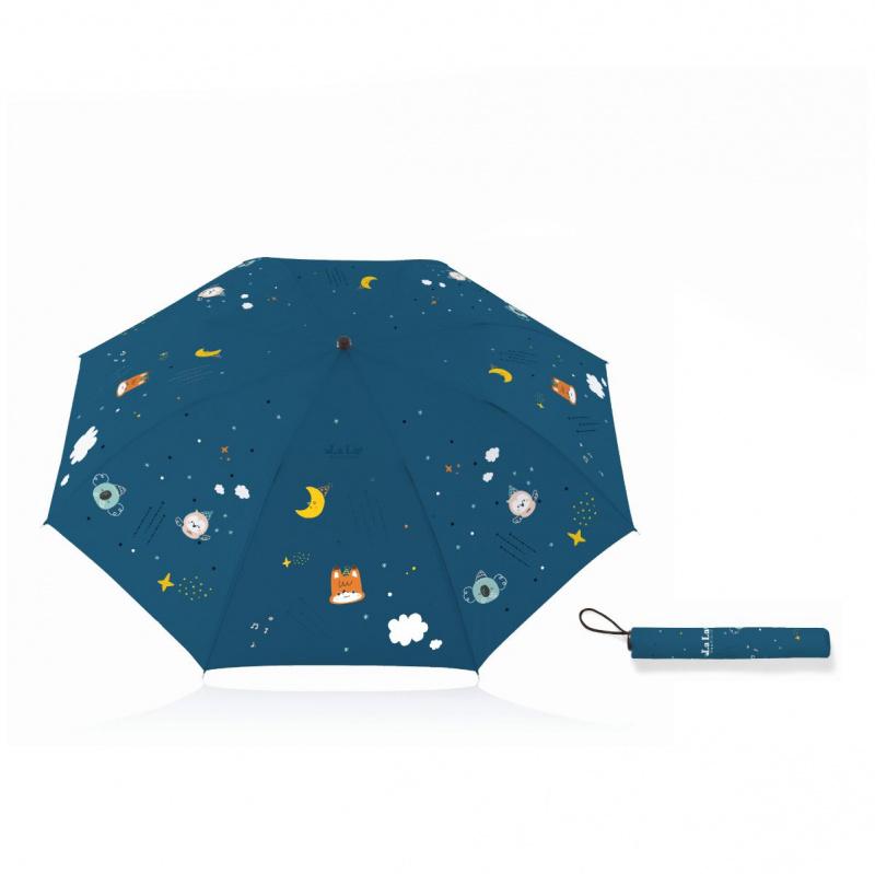 插畫師原創設計 防夾手按鈕雨傘