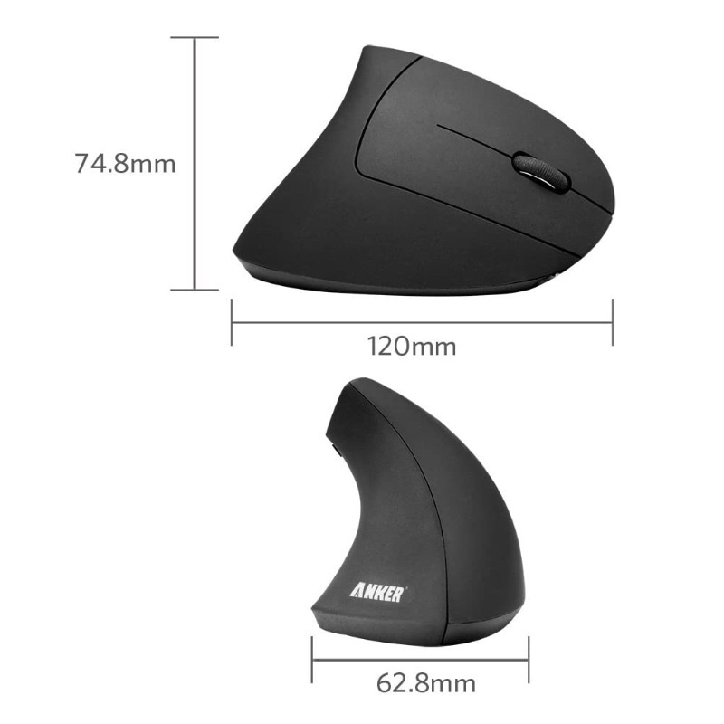 Anker 2.4G Wireless Vertical Ergonomic Optical Mouse【行貨保養】