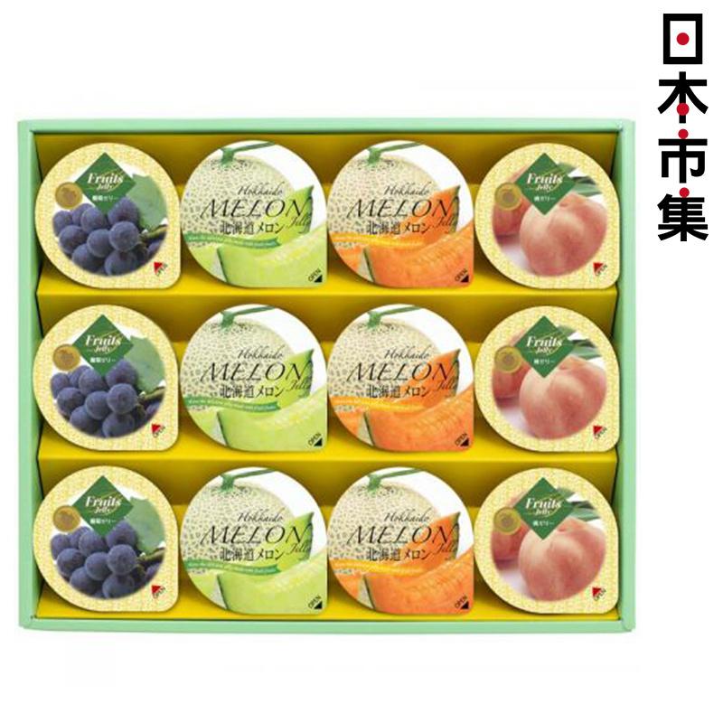 日版金澤兼六製菓《夏季雜錦水果》啫喱 1盒12個【市集世界 - 日本市集】