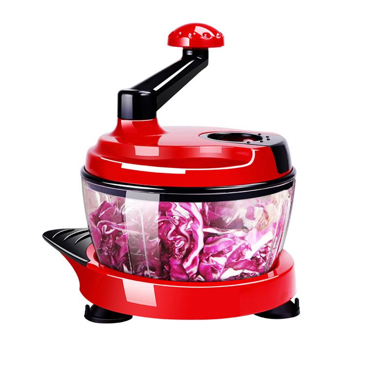 YiYong 手動絞肉器、絞菜器、水果蔬菜脫水器、多功能食物料理器-紅/橙/綠