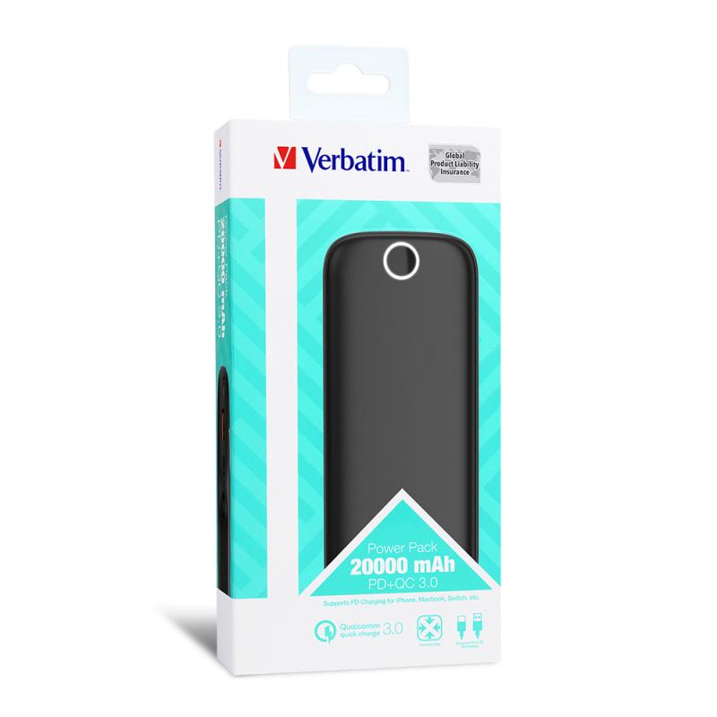 Verbatim 20,000mAh PD & QC 3.0 流動充電池
