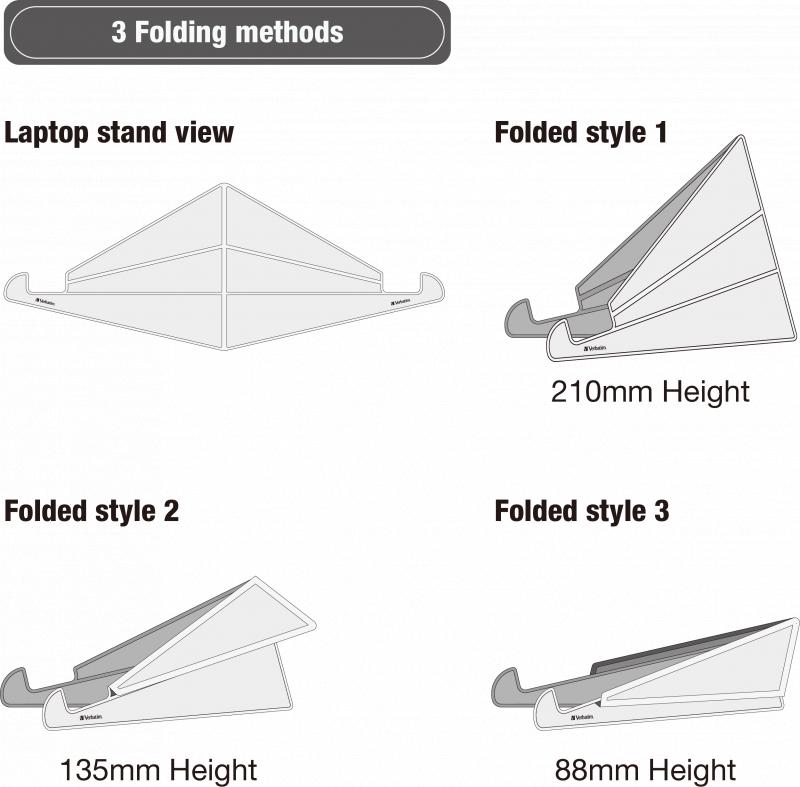 Verbatim Level adjustable laptop stand