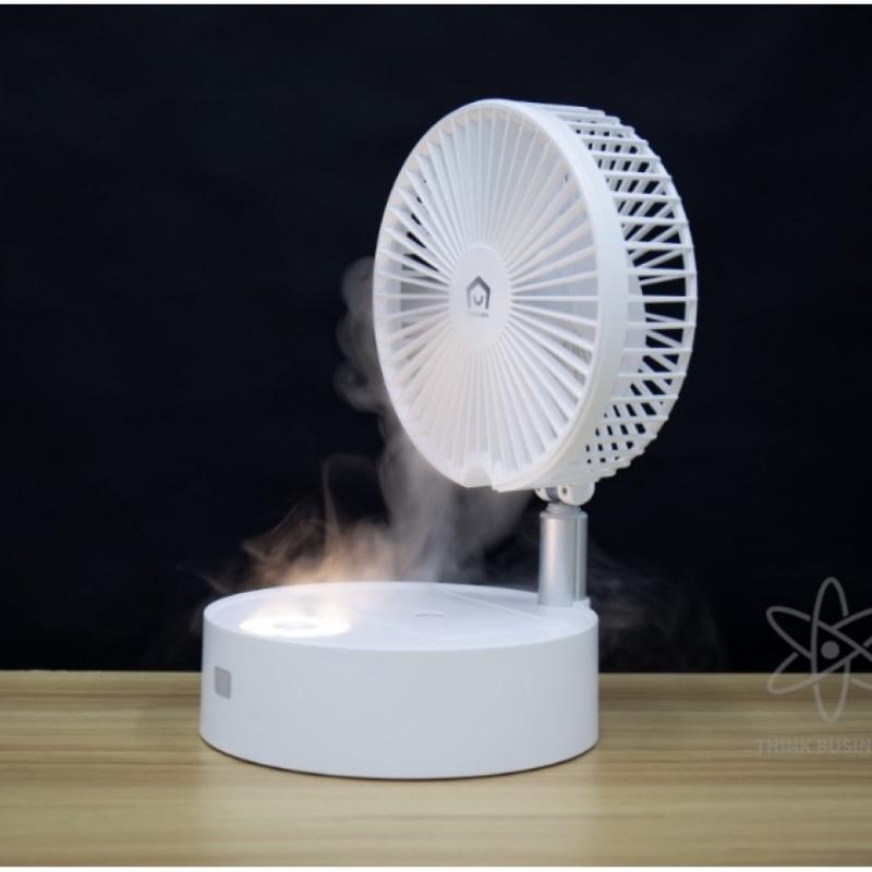 日本 Yohome 折疊加濕風扇 搖頭款