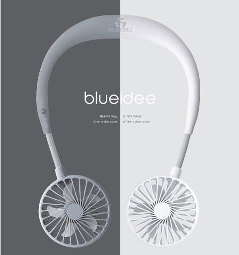 韓國 Blueberry BLUEIDEE BI-NF3 掛頸式雙頭風扇 [2色]
