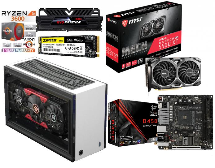 5月新春iTX優惠系列AMD Ryzen5-3600+RX5500XT 8GB+500GB M.2 (6核心 火線獵殺/戰爭機器5/全境封鎖2/LOL/食雞/GTA5 電競組合) 🔥🔥🔥免費送貨 + 再加送正版WIN10🔥🔥🔥