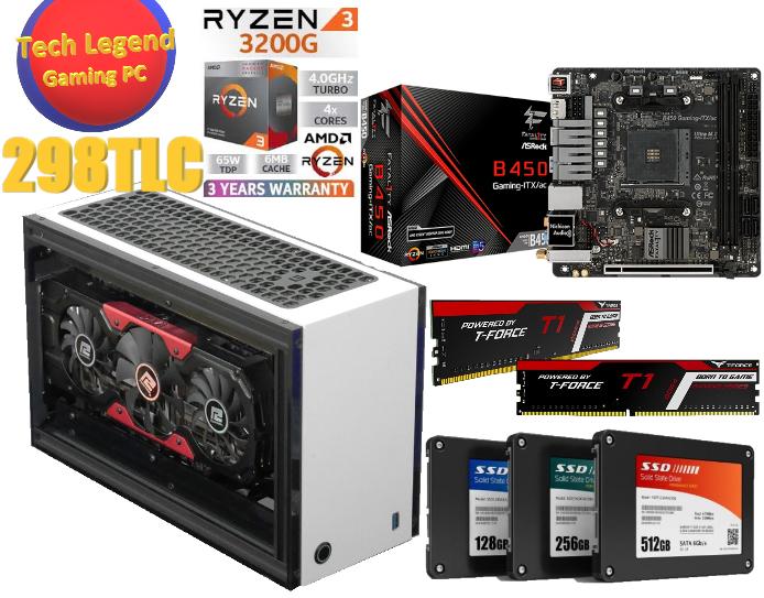5月新春iTX優惠系列AMD Ryzen3-3200G+8GB Ram+256GB SSD (4核心 火線獵殺/戰爭機器5/全境封鎖2/LOL/食雞/GTA5 電競組合) 🔥🔥🔥免費送貨 + 再加送正版WIN10🔥🔥🔥