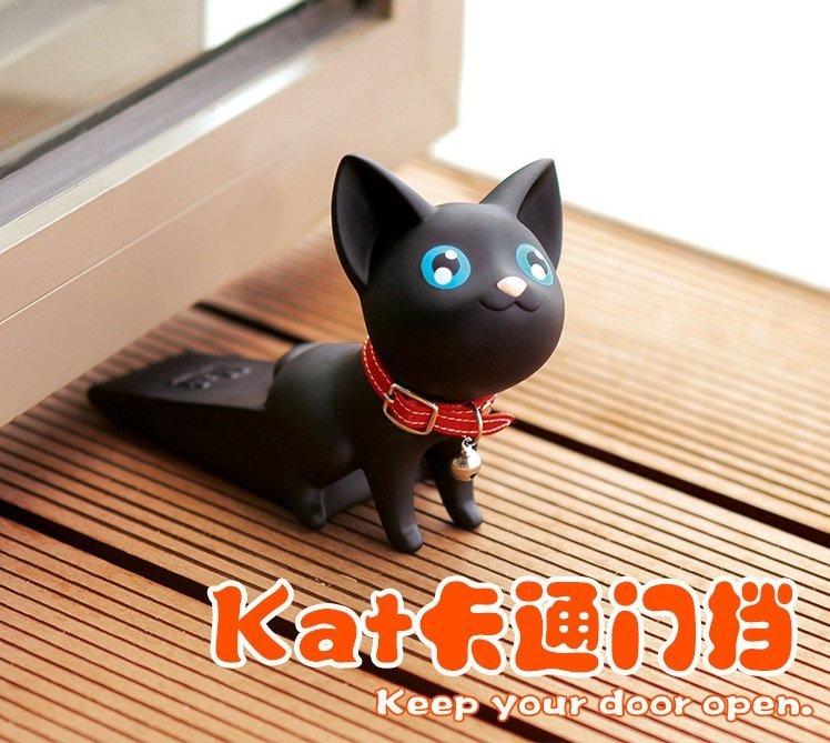 日本得意貓咪門擋門塞(黑白兩色)