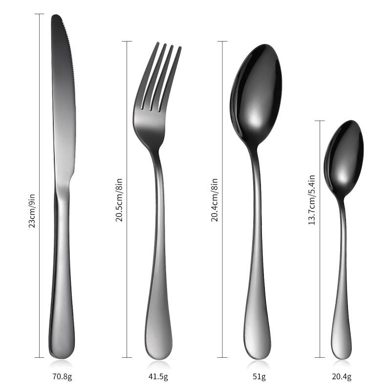 24件不銹鋼餐具套裝