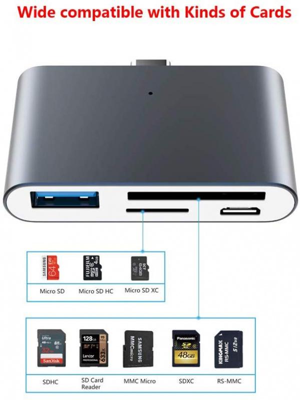 BOOX Type-C 多合一讀卡機(適合Note2, Max3 , Nova 2使用)