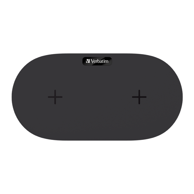 Verbatim 15W Dual Pad Wireless Charger (66093/66094)