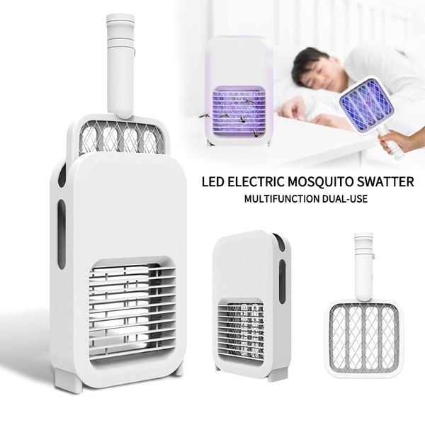 USB充電智能二合一滅蚊拍誘蚊燈