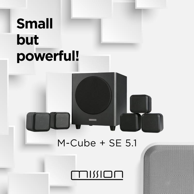 Mission M-CUBE+SE 5.1 聲道喇叭系統 [兩色]