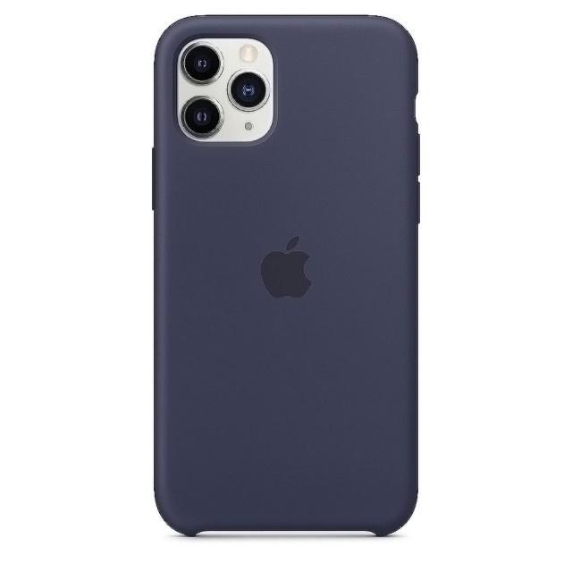 Apple 原廠 iPhone 11 Pro 矽膠護殼-午夜藍色