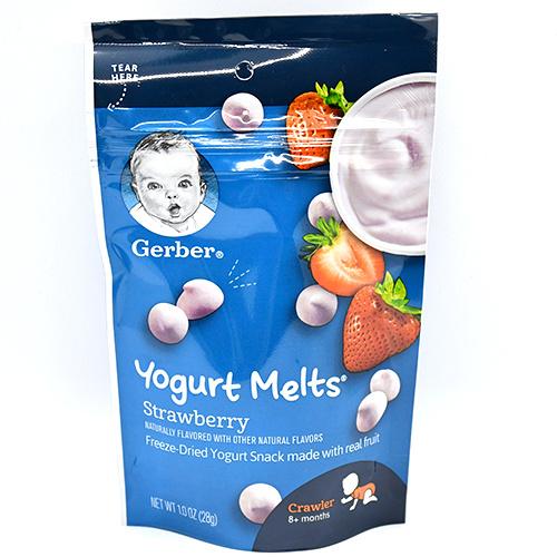 Gerber嘉寶 優酪乳溶豆草莓味 (28g)