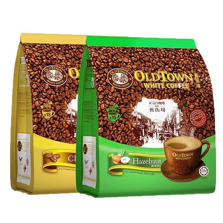 舊街場 3合1白咖啡 40gx15包 (經典味/榛果味)