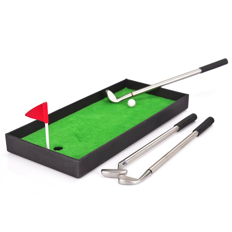 EFOSHM 迷你高爾夫球造型三色原子筆套裝