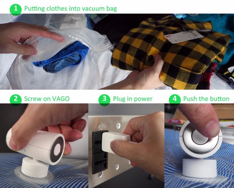 VAGO 專用旅行真空壓縮真空袋 [3尺寸]