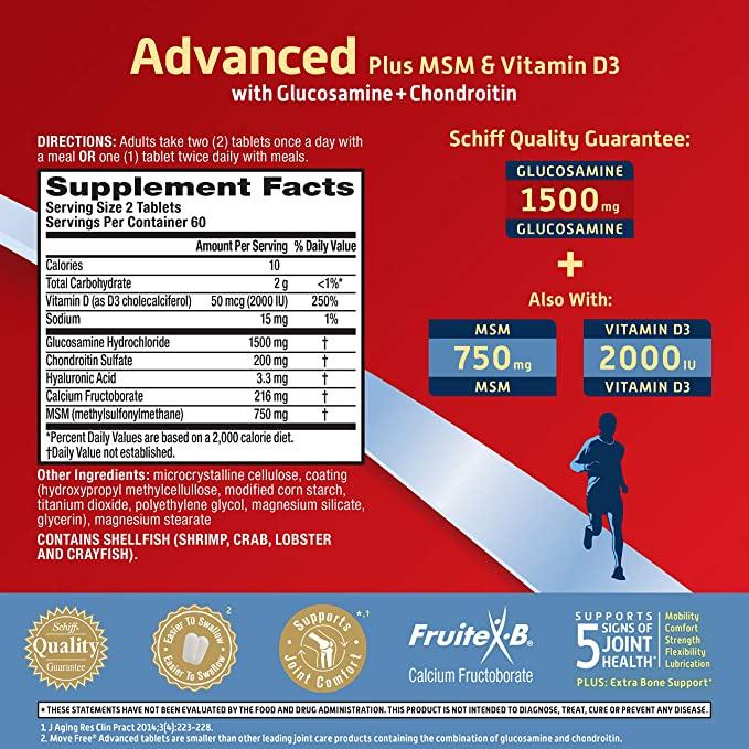Schiff 益節 Movefree 5合1 強效添加MSM&維生素 [80粒] (美國本地版)