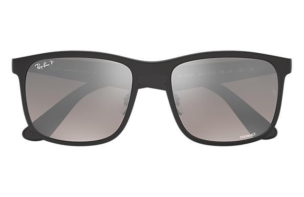 Ray-Ban RB4264 Chromance Polarized 偏光銀色戀彩鏡片太陽眼鏡   601S5J 黑色鏡框
