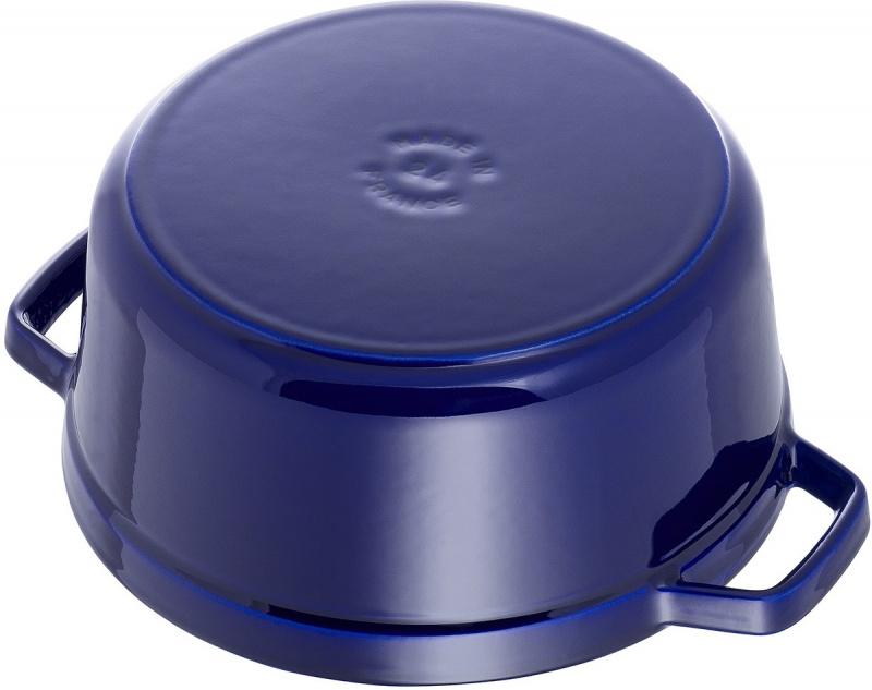 Staub - 圓形鑄鐵鍋 藍色 - 24cm /3.8L (1102491) Round Cocotte
