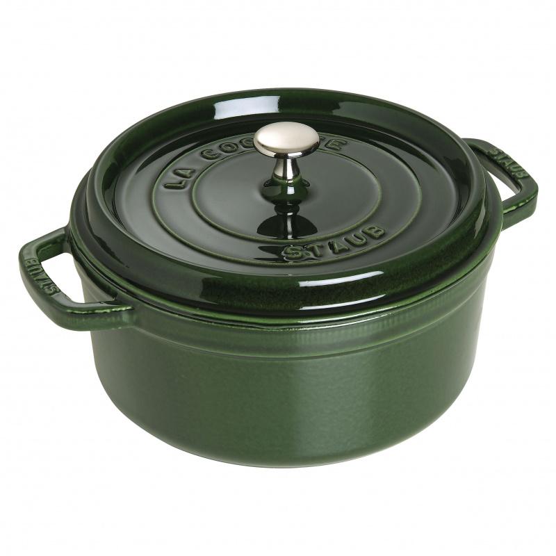 Staub - 圓形鑄鐵鍋 綠色 - 24cm /3.8L (1102485) Round Cocotte