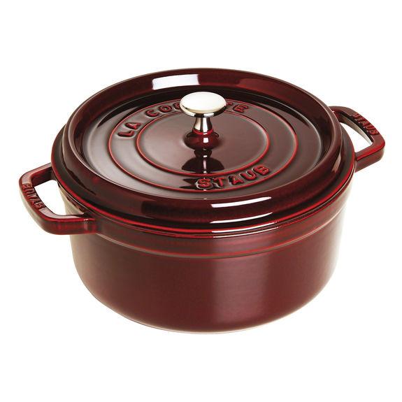 Staub - 圓形鑄鐵鍋 深紅色 - 26cm /5.2L (1102687) Round Cocotte Grenadine Red
