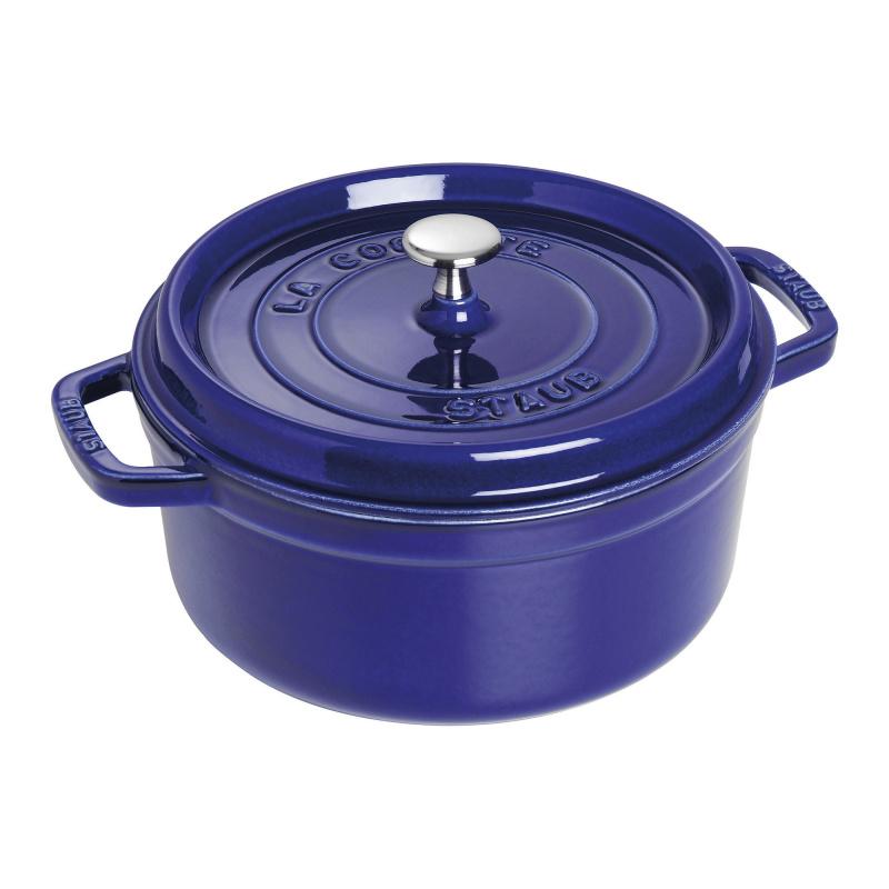 Staub - 圓形鑄鐵鍋 藍色 - 26cm /5.2L (1102691) Round Cocotte