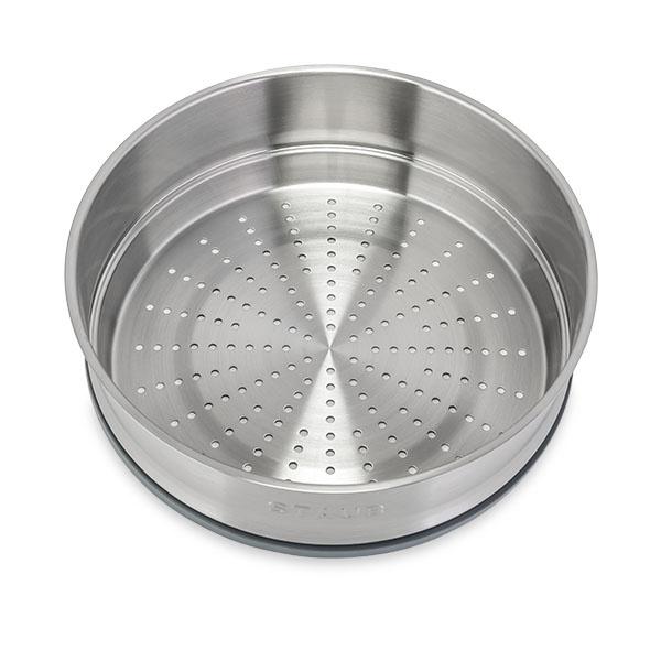 Staub - 圓形鑄鐵鍋 黑色 連蒸籠 - 26cm /5.2L (1133825) Round Cocotte with Steamer