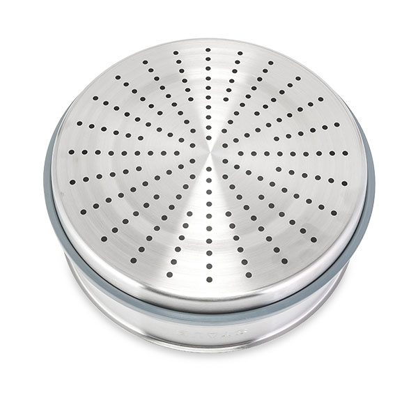 Staub - 圓形鑄鐵鍋 灰色 連蒸籠 - 26cm /5.2L (1133818) Round Cocotte with Steamer