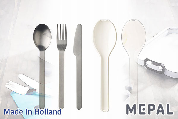 MEPAL Ellipse不鏽鋼餐具套裝 (白色/叉+匙+刀) 荷蘭製造
