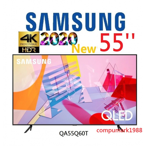 Samsung 55'' QLED 4K HDR10+ 智能電視 2020 (QA55Q60T)