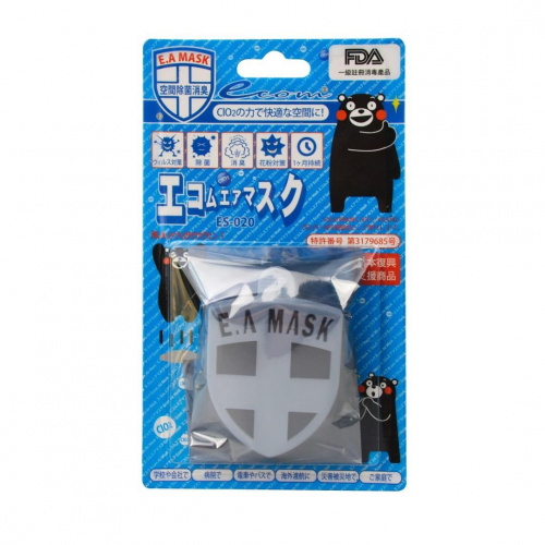 Ecom EA MASK 日本空氣消毒健康勳章 (藍色) [ES-020]