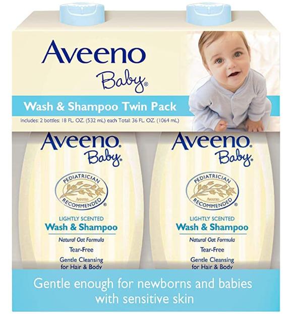 Aveeno Baby Wash & ShampooTwin Pack 沐浴洗髮乳 532ml twin Kit
