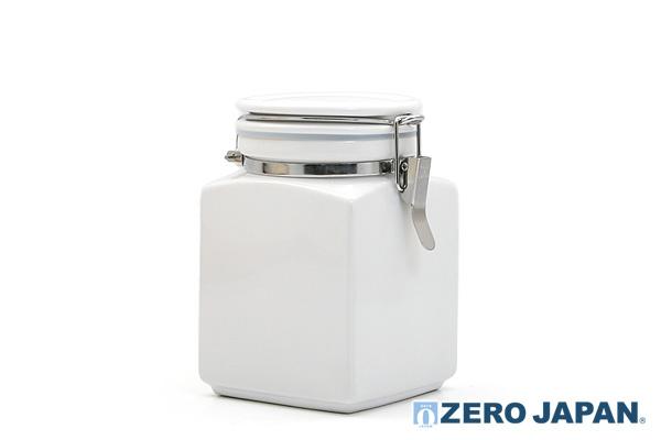 方型密封式咖啡豆儲存容器 (白/900ml)|日本製造