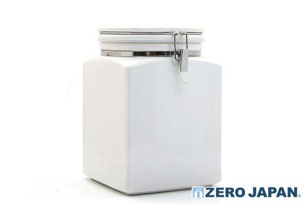 方型密封式咖啡豆儲存容器 (白/2000ml)|日本製造
